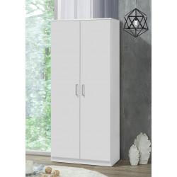 Armoire contemporaine 80 cm blanche Atlantis