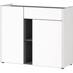 Meuble de rangement moderne blanc/graphite Vahina