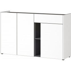 Buffet/bahut moderne blanc/graphite Vahina