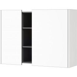 Armoire murale moderne blanc/graphite Vahina
