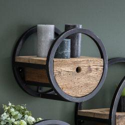 Etagère contemporaine en bois et métal Anaïs
