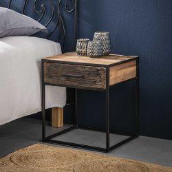 Table de chevet contemporaine en bois 1 tiroir Anaïs