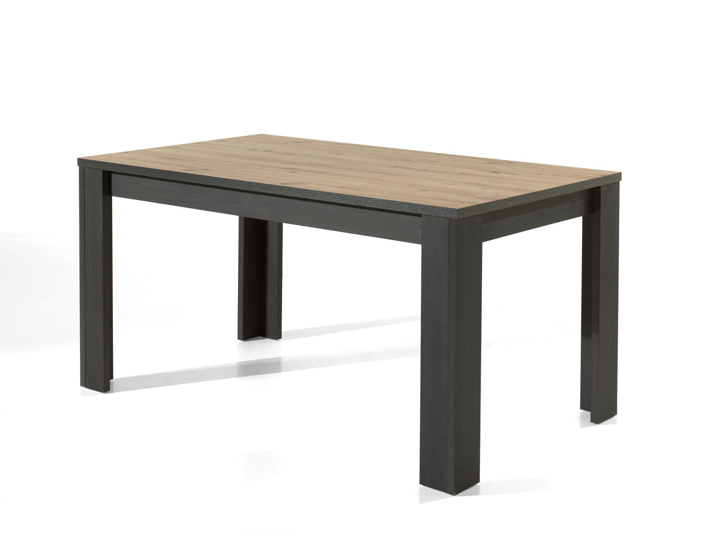 Table de salle à manger industrielle chêne/anthracite Loic