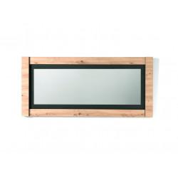 Miroir rectangulaire chêne/noir Loic