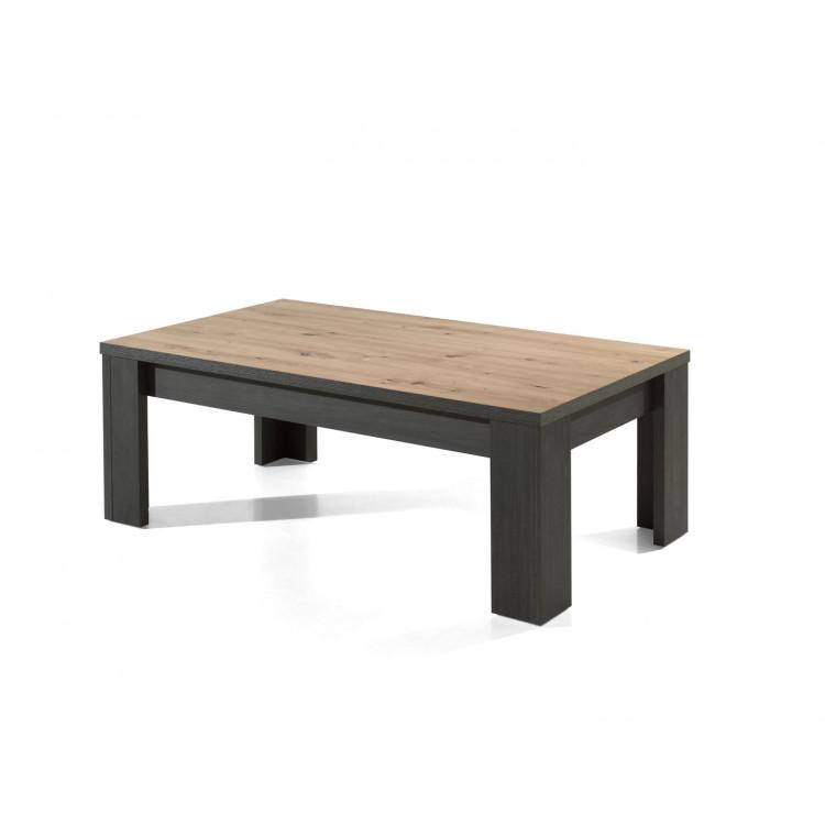Table basse industrielle chêne/noir Loic