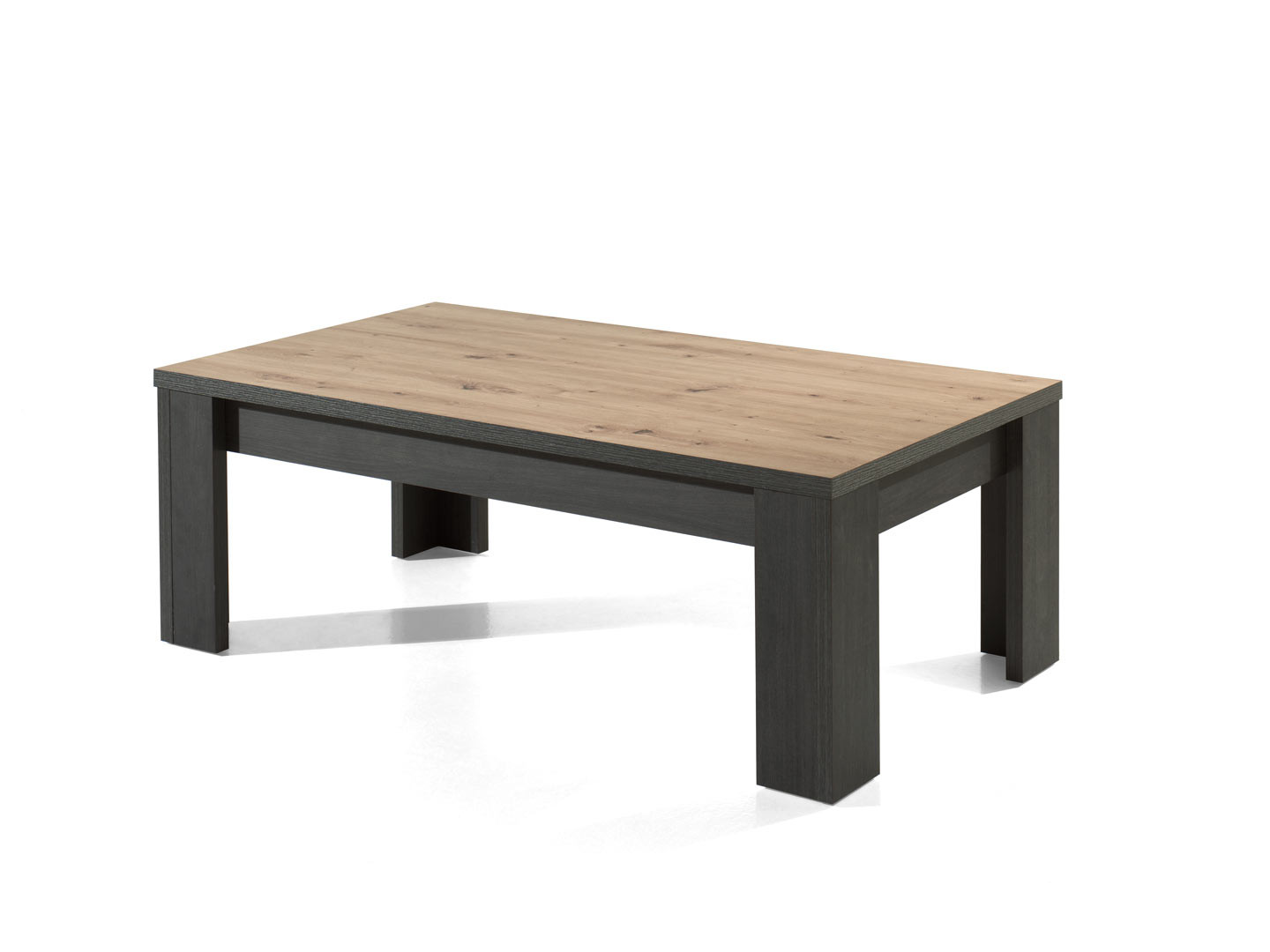 Table basse industrielle chêne/anthracite Loic