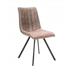 Chaise de salle à manger moderne en tissu beige (lot de 4) Loic