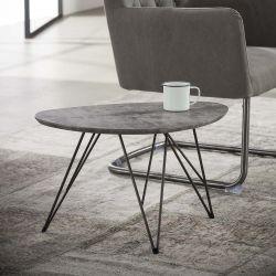 Table basse en bois coloris gris foncé Edouard