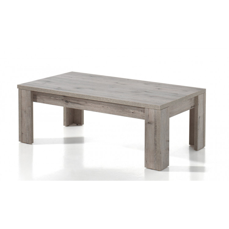 Table basse contemporaine chêne clair Varsovie