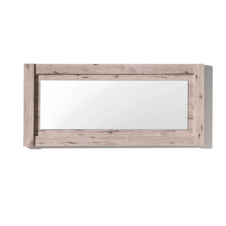 Miroir rectangulaire chêne clair Varsovie