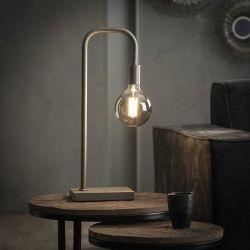 Lampe de table industrielle en métal gris Marvin