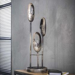 Lampe de table industrielle en métal argenté Ernest