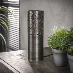 Lampe de table industrielle en métal noir Ø10 cm Célia