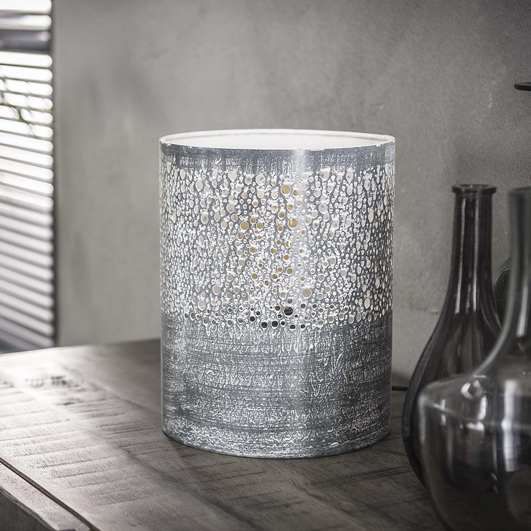 Lampe de table industrielle en métal Ø20 cm Célia