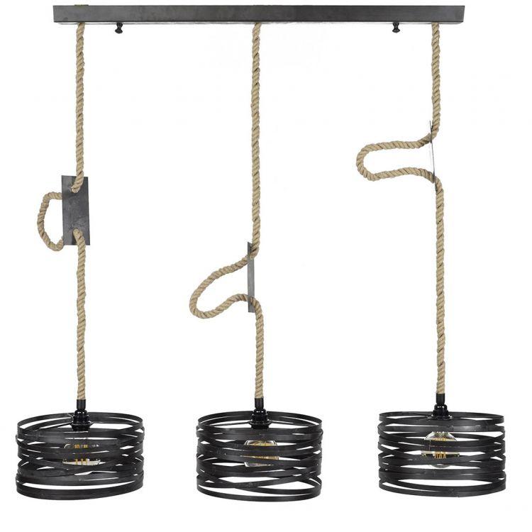 Suspension contemporaine en métal 3xØ20 cm Florian