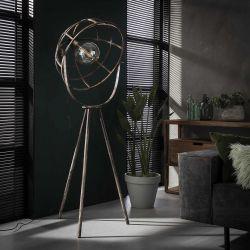 Lampadaire vintage en métal argenté Ø60 cm Erika