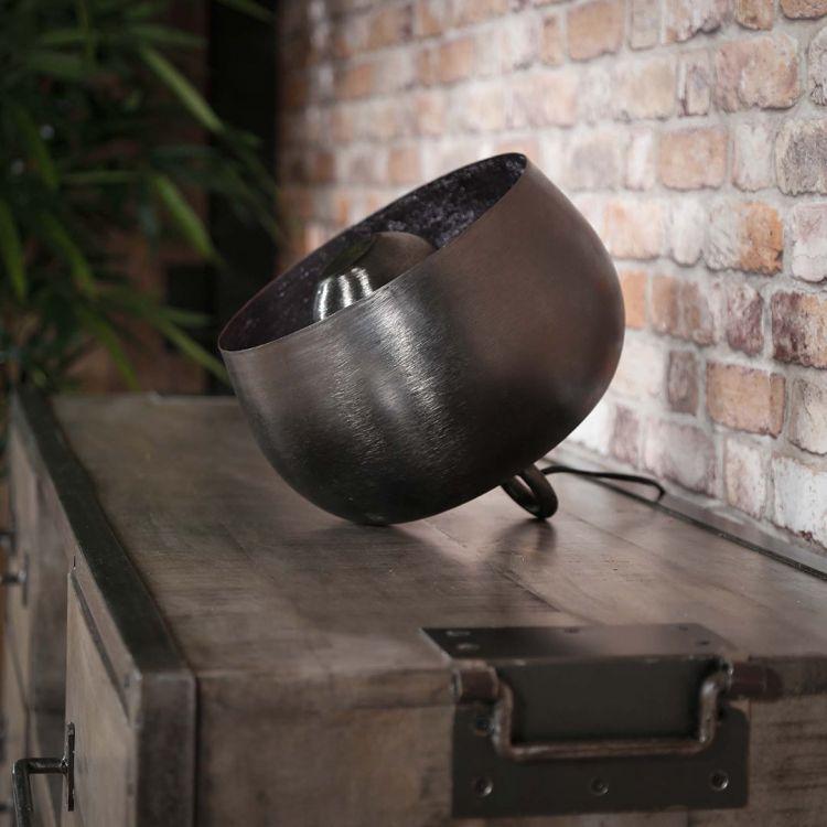 Lampe à poser industrielle en métal noir Louis