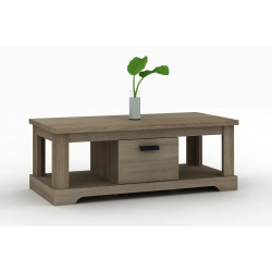 Table basse contemporaine chêne gris Wally