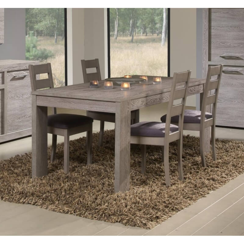 Table de salle manger contemporaine coloris cottage oak tania matelpro - Table de salle a manger contemporaine ...