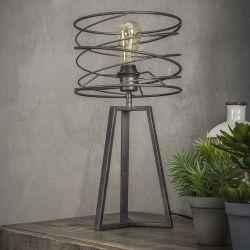 Lampe à poser industrielle en métal noir Ø27 cm Aurèle