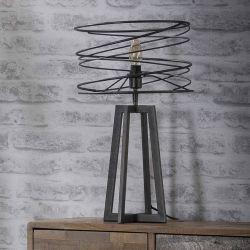 Lampe de table industrielle en métal noir Ø30 cm Olivia