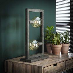 Lampe à poser vintage en métal argenté 2 lampes Stefano