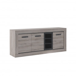 Buffet/bahut contemporain chêne clair Willy