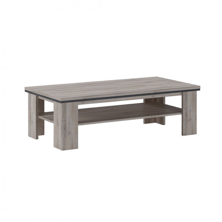 Table basse contemporaine chêne clair Willy