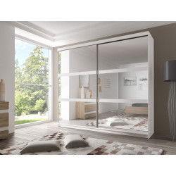 Armoire adulte contemporaine 183 cm blanche Roselia