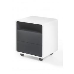 Caisson de bureau moderne blanc/anthracite Romeo