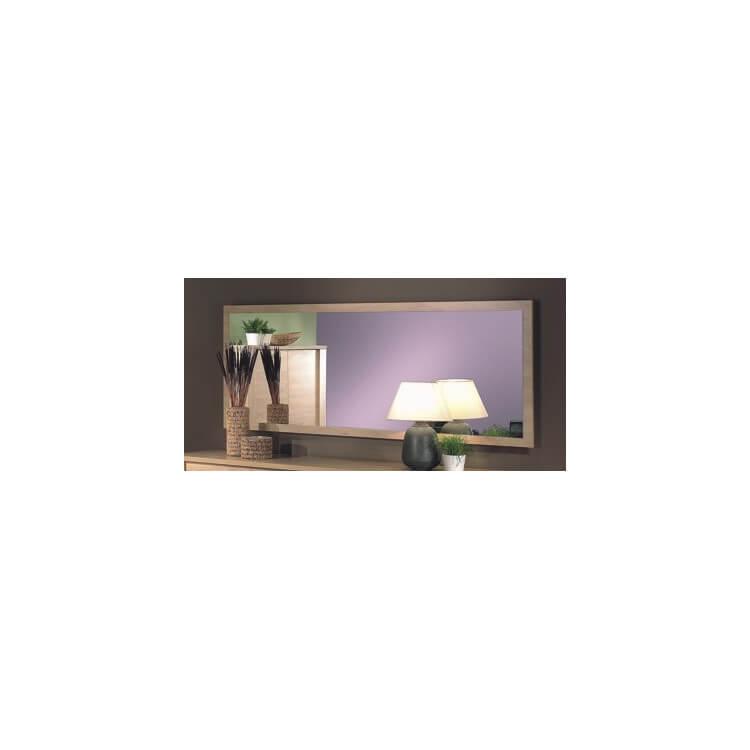 Miroir rectangulaire contemporain coloris chêne canberra Ibiza