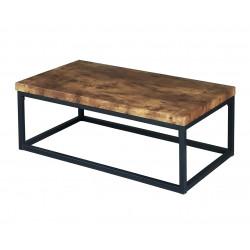 Table basse industrielle chêne/noir Ophelia