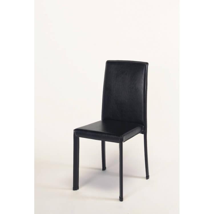 Chaises de salle à manger contemporaine en PU brun (lot de 2) Ibiza
