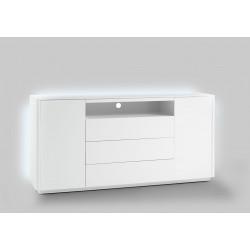Buffet/bahut moderne 180 cm laqué blanc mat Toulouse