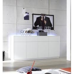 Buffet/bahut moderne 180 cm laqué blanc mat Toulouse I