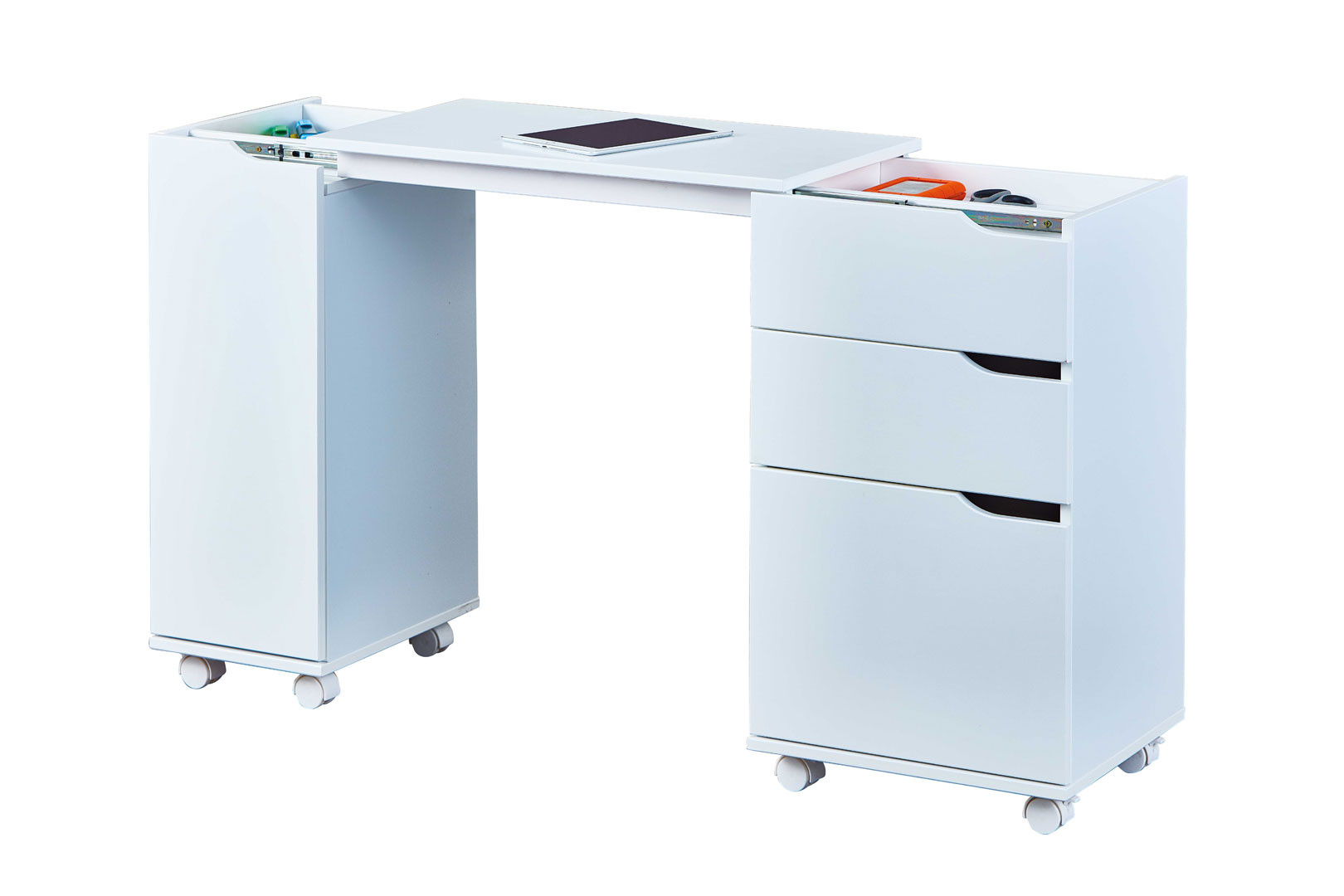 Bureau modulable moderne blanc Lally