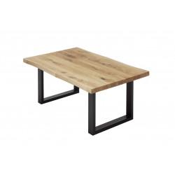 Table basse industrielle en chêne massif Kendra