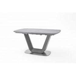 Table de salle à manger extensible moderne gris laqué Tanzanie