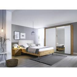 Chambre adulte moderne chêne/blanc Guadeloupe