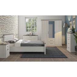 Chambre adulte style campagne chêne blanchi/béton Avoriaz