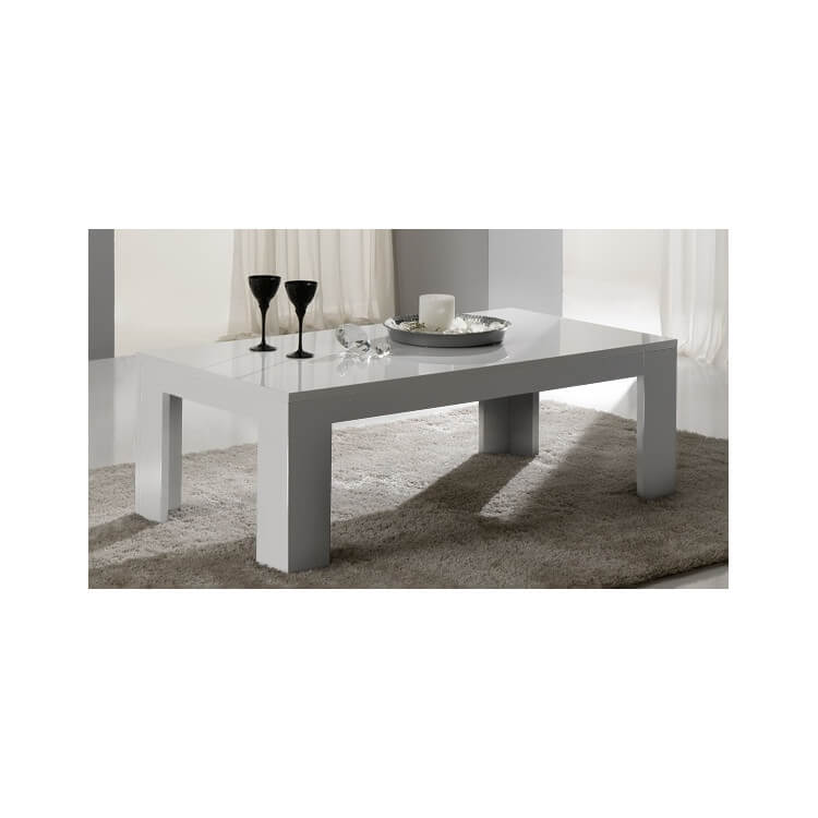 Table Basse Rectangulaire Blanche.Table Basse Rectangulaire Design Laquee Blanche Alba