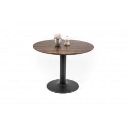 Table ronde moderne chêne/noir Rebecca