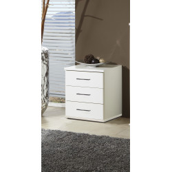 Chevet contemporain blanc Rubis