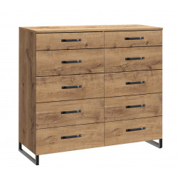 Commode industrielle 116 cm coloris chêne Michigan