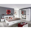 Chambre adulte contemporaine blanche Doroty