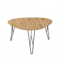 Table basse industrielle chêne/noir Tania