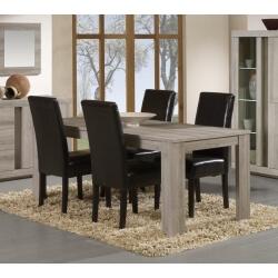Table de salle à manger contemporaine coloris chêne mara Elina