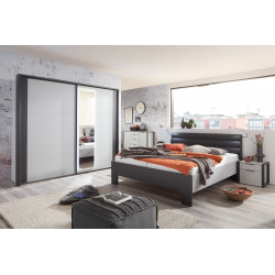 Chambre adulte moderne gris/anthracite Viennes