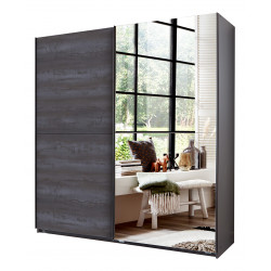 Armoire adulte moderne anthracite Irvine