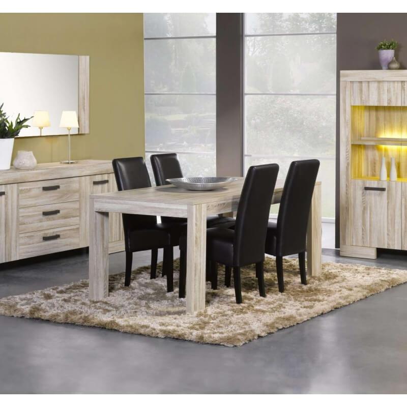 table de salle manger contemporaine ch ne clair sydney matelpro. Black Bedroom Furniture Sets. Home Design Ideas